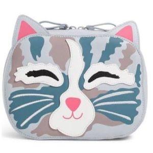 NWT Vera Bradley iconic cat cosmetic bag/clutch